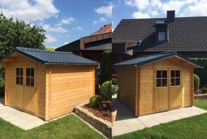 Dachpfannenblech RAL 9005 Gartenhaus